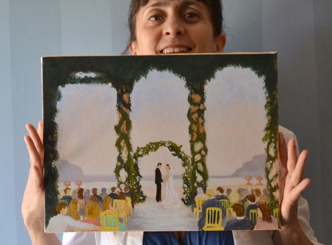 event painting for weddings in italy