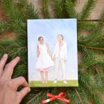 lesbian wedding painting