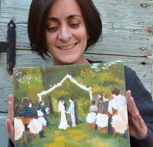wedding painting from photo