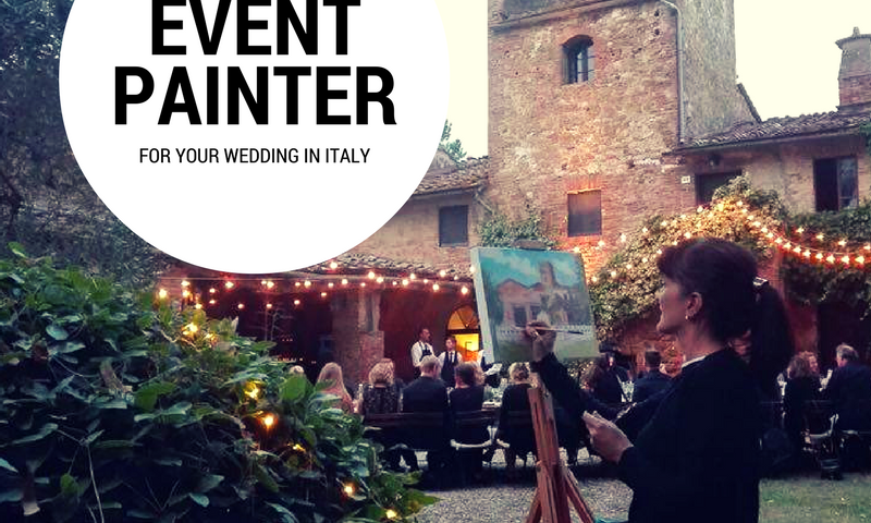 Event painting for your wedding in italy