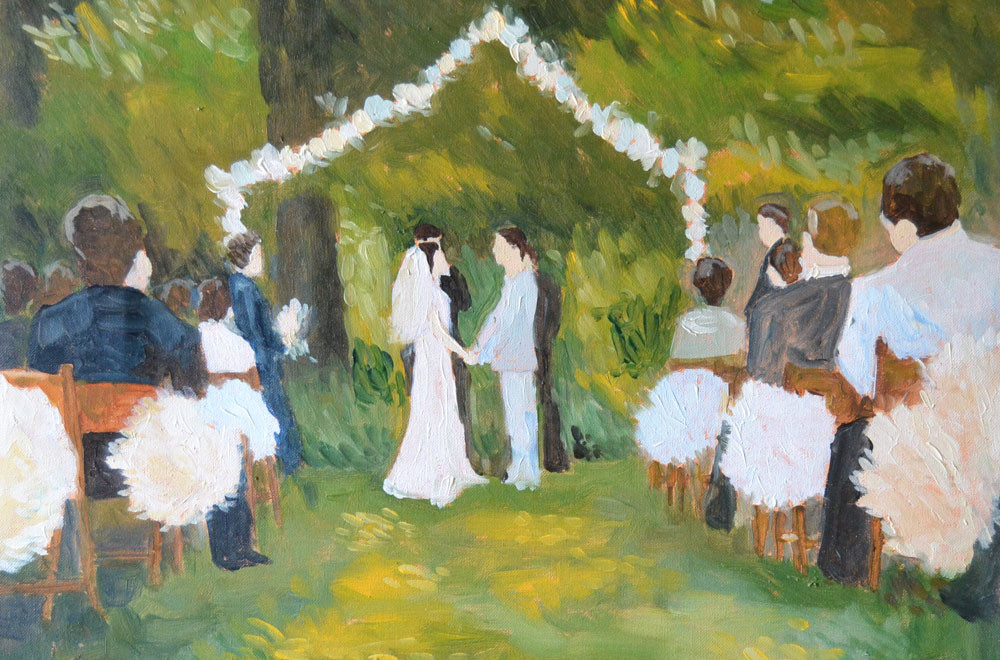 live event painting for your wedding or celebration