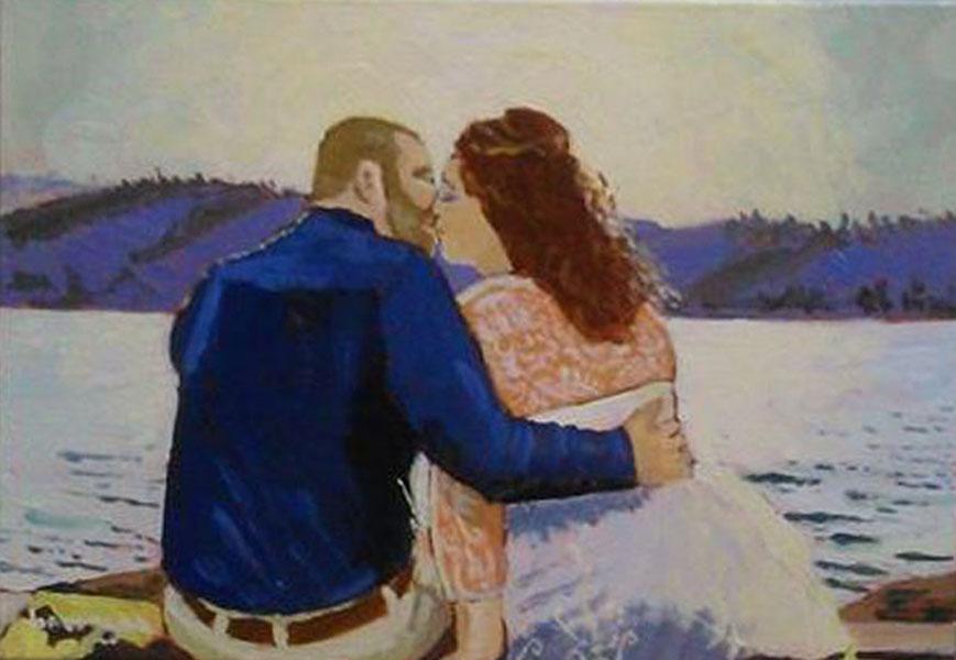 dipinto per anniversario