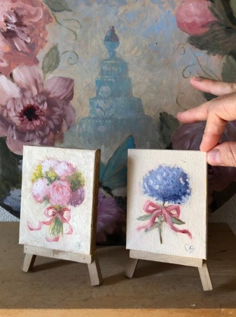 hand painted wedding favors in Italy