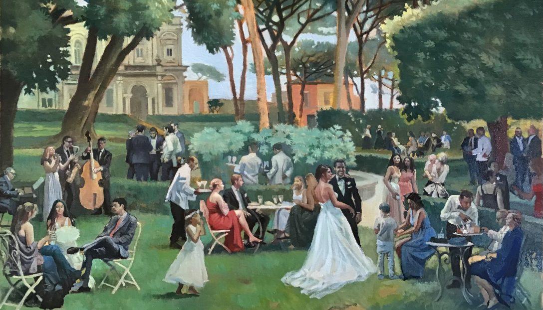 Event Painting at Villa Aurelia Rome